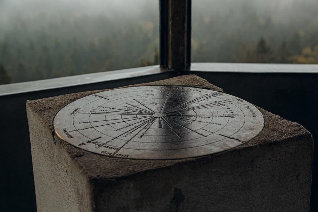 Auf dem Waldstein erhebt sich der Aussichtspavillion
