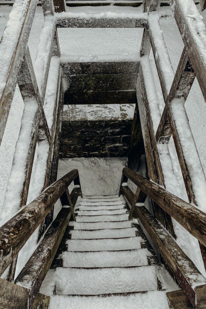 Treppe zur Aussichtskanzel