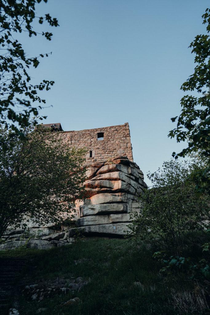 Die Burg Epprechtstein vom Luisentisch aus kommend