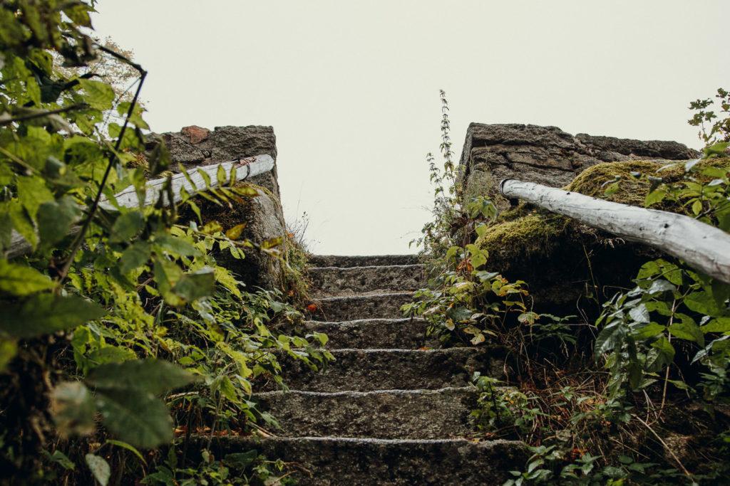 Die Burgruine auf dem Waldstein im Fichtelgebirge