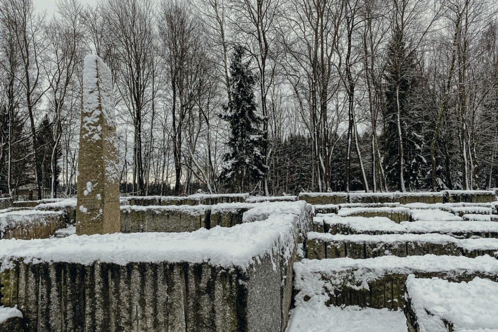 Das Labyrinth am Epprechtstein im Schnee