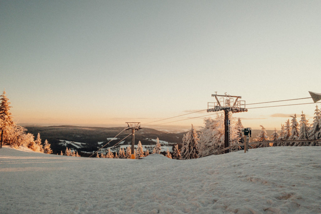 Die Ochsenkopf Seilbahn im Winter