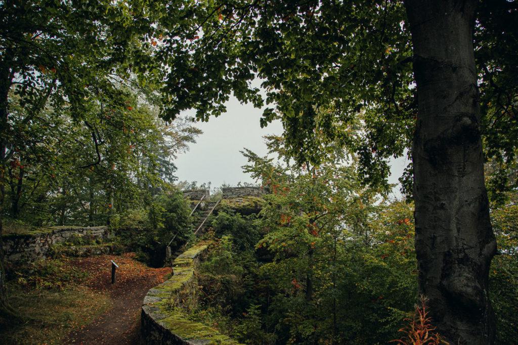 Das rote Schloss auf dem großen Waldstein