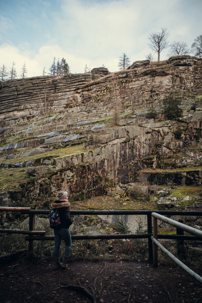 Epprechtstein Granit Steinbruch Wanderweg