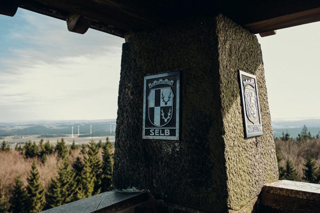 Aussicht von der Spitze des Kornbergturm auf dem Kornberg