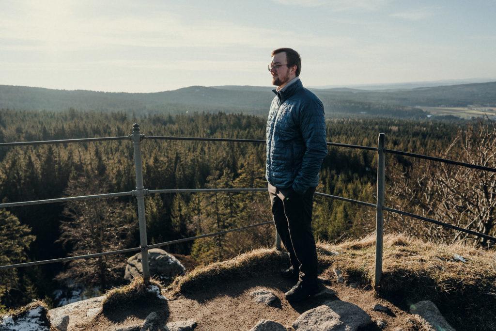 Auf dem Gipfel des Rudolfstein