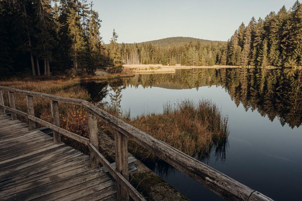Wandern und Baden im Naturpark Fichtelsee