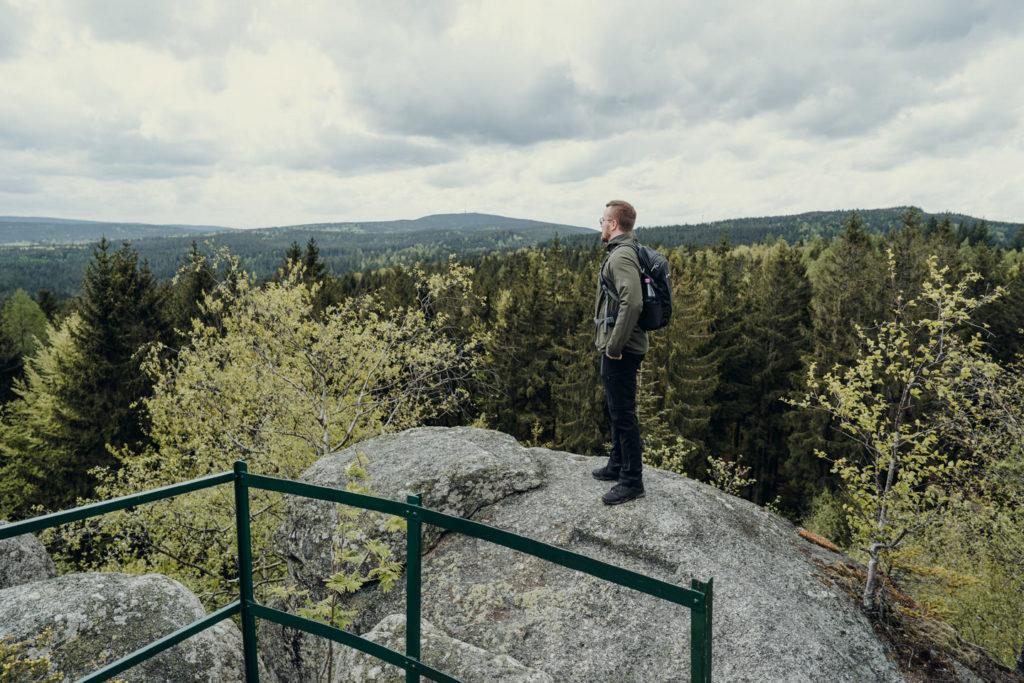 Fantastischer Blick von der Aussichtsplattform der Prinzenfelsen aus